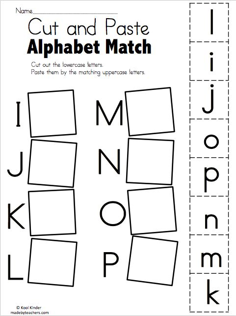 Alphabet Match I to P