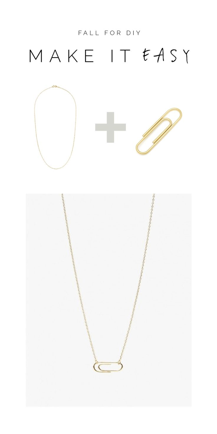 A really easy, on trend necklace to make for the weekend. All you'll need is a paperclip and a necklace chain and you can Make it Easy!