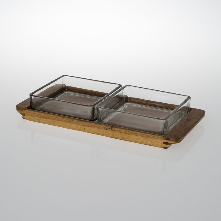 Aino Aalto; Wood and Glass 'Maija' Serving Platter, 1936.