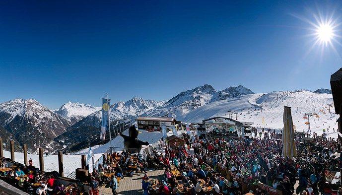 Lunch Sölden skiing Snow winter STS Alpresor puder skidresa Alperna
