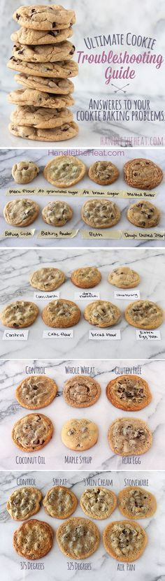"Ultimate Cookie Troubleshooting Guide - this chart is a ""cookie-saver""! Include those delicious See's chocolate chips and you are on your way to the best cookie around!"