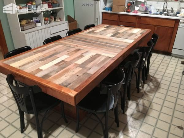 15 must see pallet dining tables pins tall bar tables for Pallet kitchen bench