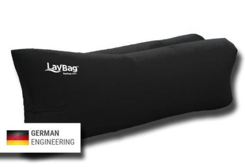 LayBag-Inflatable-Air-Sofa-Black-Like-New-No-Air-Pump-Needed