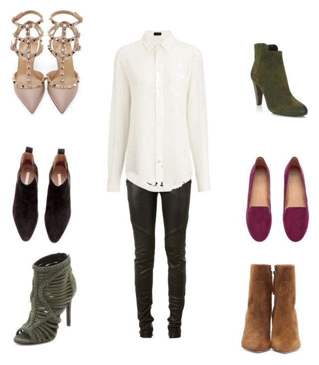 """Mix it up"" by lilyks on Polyvore featuring Balmain, Joseph, H&M, Valentino, Schutz, Elie Tahari and Isabel Marant"