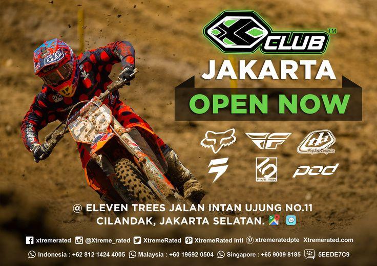 OPEN NOW! X-CLUB Jakarta @Eleventrees Jalan Intan Ujung No. 11 Cilandak, Jakarta Selatan |   #xtremerated #xclub #motocross #mtb #stores #jakarta #indonesia
