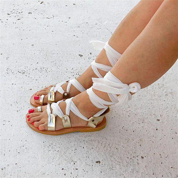 Bridal sandals, Greek leather sandals