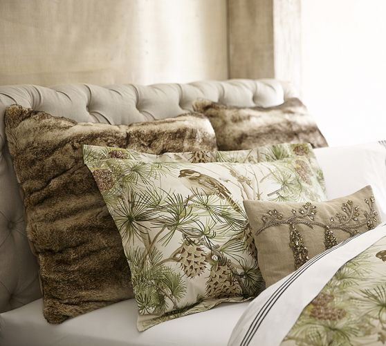 Snow Pine Bird Sham Pottery Barn Bed Linens Amp Blankets