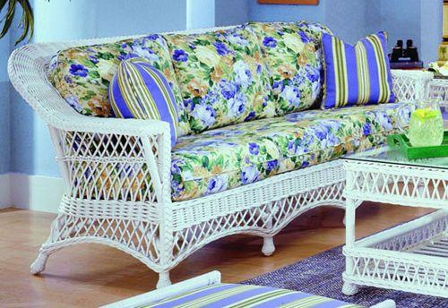 Bar Harbor White Rattan Sunroom Furniture from Spice Island Wicker