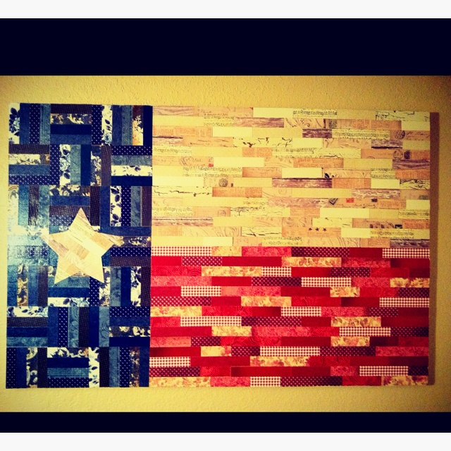 Diy Scrapbook Paper Texas Flag Wall Decor Maybe For
