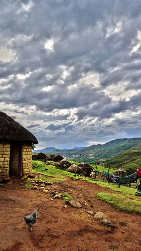 Basotho Hut in Lesotho (Lesotho is a country in Africa, completely surrounded by South Africa)
