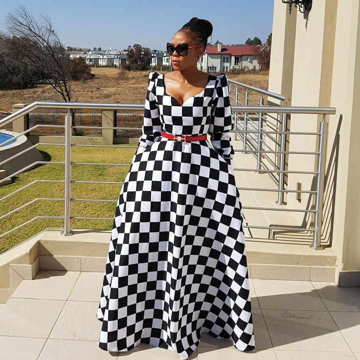 Black and White Maxi Dress :   @nedim_designs