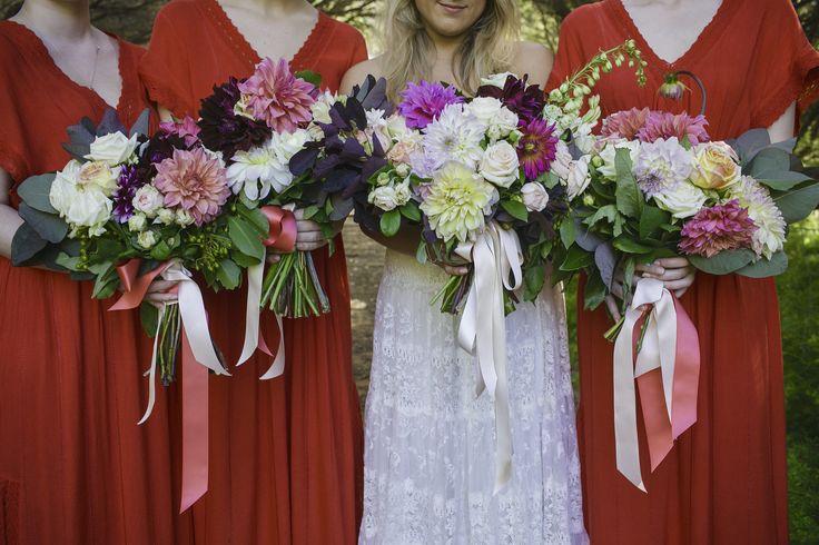 Bridesmaid dresses Wedding bouquets