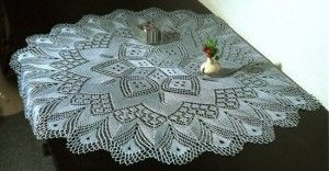 free knitted lace pattern 300x156 GREAT ROUND CROCHET TABLECLOTH PATTERN