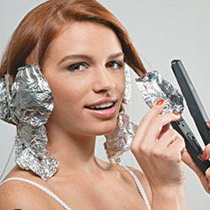 Como cachear o cabelo com chapinha e papel alumínio