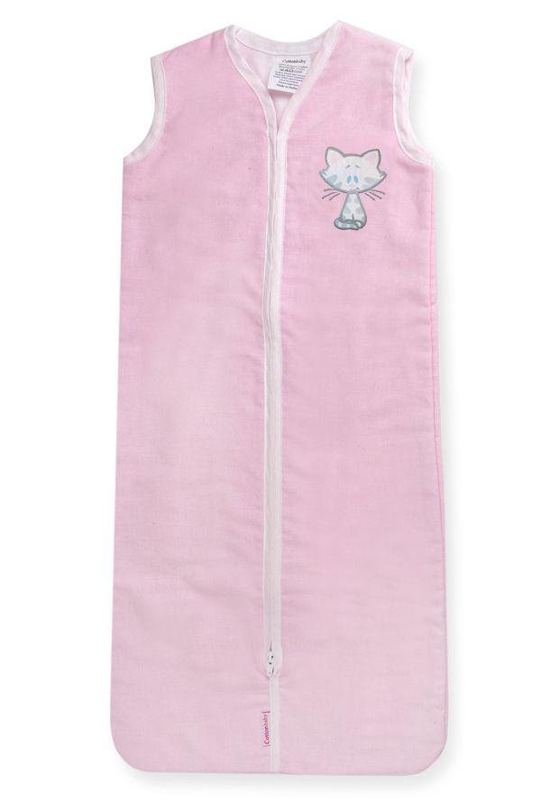 Cottonbaby slaapzak Buurpoes roze uit de online shop van Babyaccessoires.eu