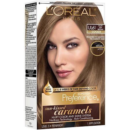 L'Oreal Paris Superior Preference Les True Brunettes Permanent Hair Color Ultra Light Ash Brown UL 61