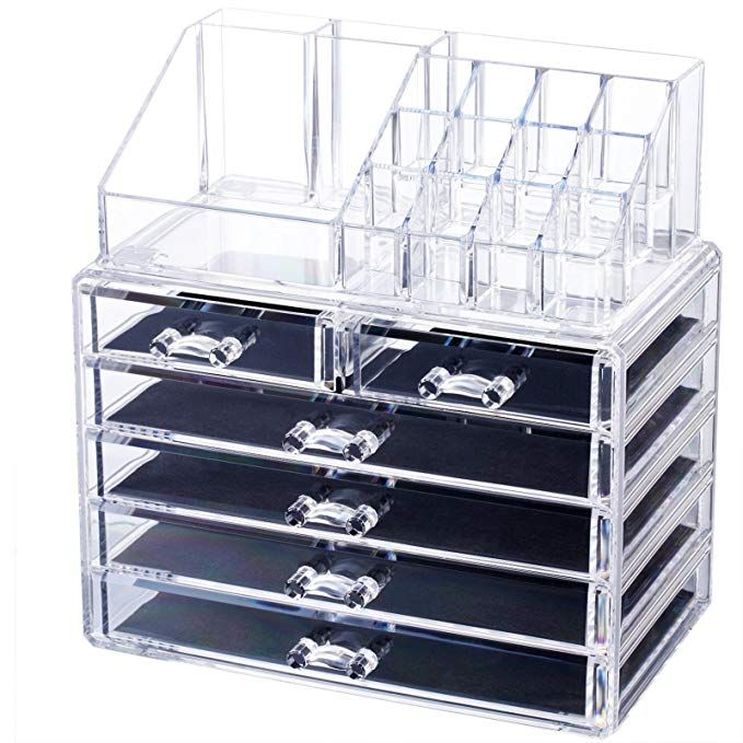 3ddc98e5f22c Homde Acrylic Makeup Organizer Jewelry & Cosmetic Storage Case 2 ...
