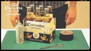 Cómo hacer una cámara Pinhole con un 6 pack de Coronita, via YouTube.