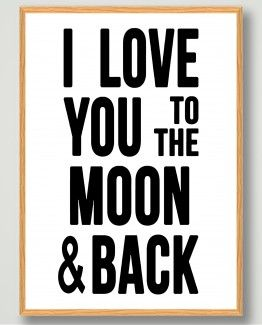 love-you-to-the-moon-plakat-billig-bolig-indretning