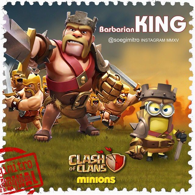 clash of clans barbarian king glitch