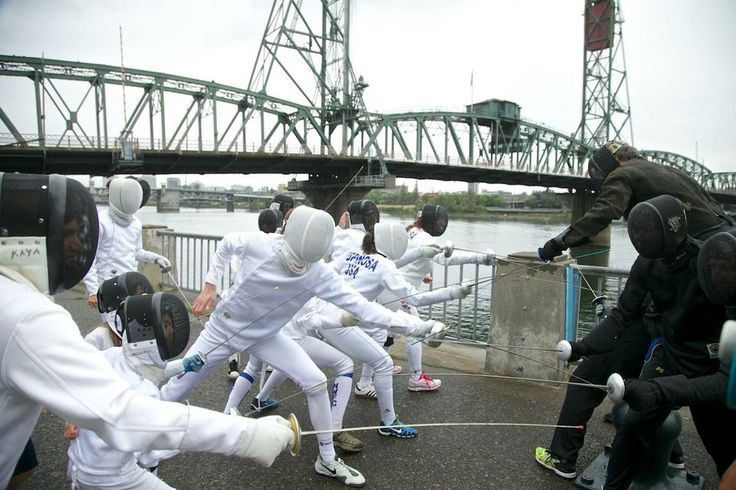 Portland's version of the second annual fencing flashmob