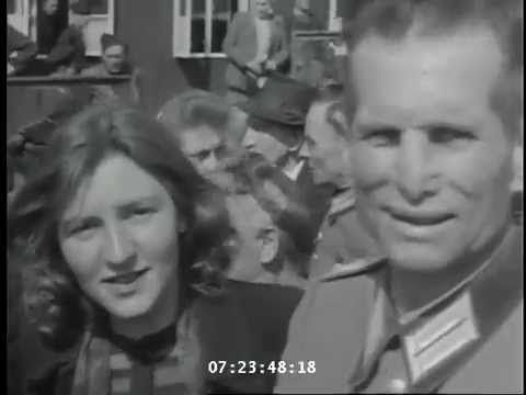 WW2: German Civilians Visit Buchenwald Concentration Camp, Germany (Apri...