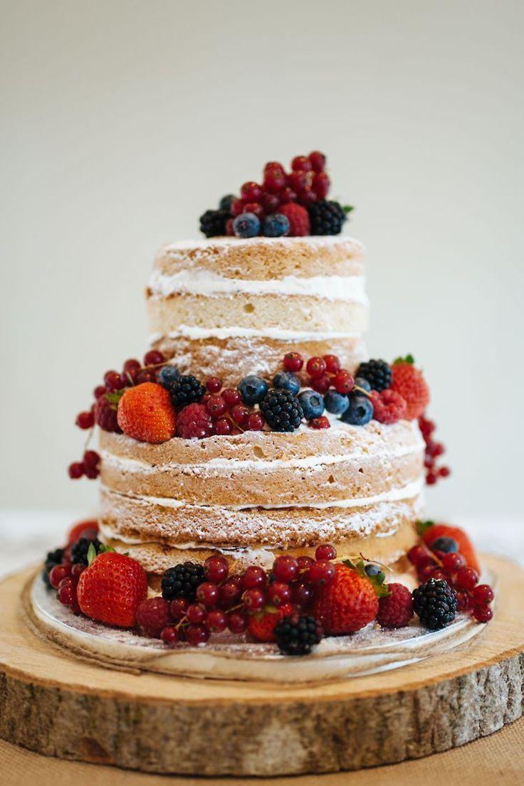 Naked Cake Sponge Layer Fruit Buttercream Berries Classic English Country Garden Cotswolds Wedding http://www.chris-seddon.co.uk/