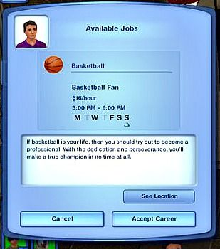 sims 4 how to change career