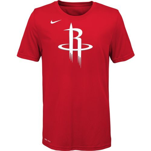 Nike Boys' Houston Rockets Logo Dri-FIT T-shirt (Red, Size Large) - Pro Licensed Product, Nba Youth at Academy Sports