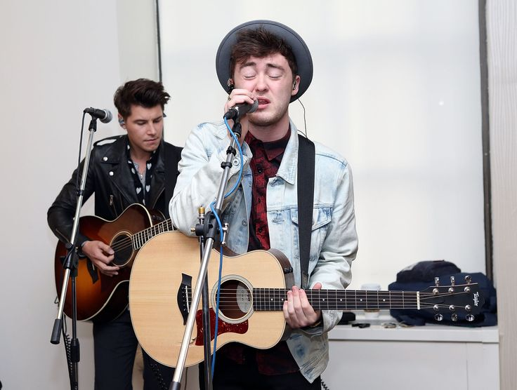 Charley Bagnall (L) and Jake Roche of Rixton perform at 'The Elvis Duran Z100 Morning Show'  at Z100 Studio on May 30, 2014 in New York City.