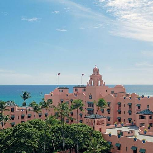 """The Royal Hawaiian Hotel the """"Pink Palace"""".   Gorgeous place!"""