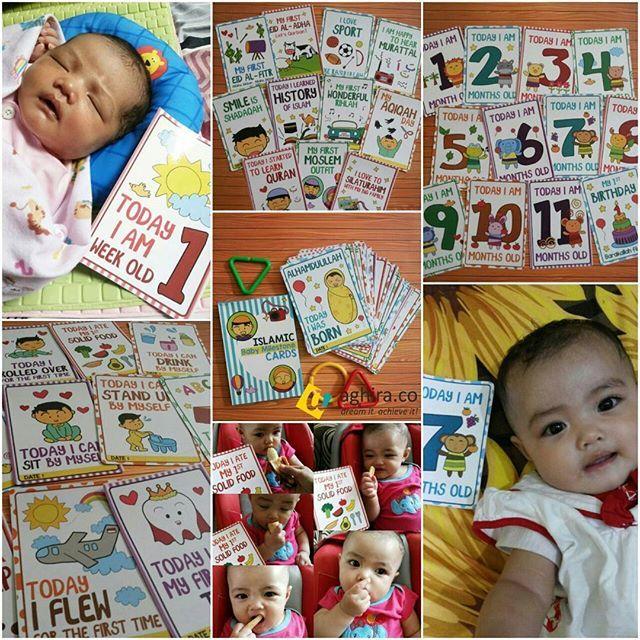 Assalamualaikum ! 😀 Numpang promosi produk baru asli hasil coretan tangan sendiri ya.. Siapa tau ada yang mau kasih kado buat yang baru lahiran, kado buat yang lagi hamil menanti kelahiran anak keluarga, atau buat anak sendiri (kelak) 😊 ... . Ayo abadikan momen tumbuh kembang bayi bersama:  ISLAMIC BABY MILESTONE CARDS atau Kartu Foto Bayi Muslim  The First, The One and Only Baby Milestone Cards in Moslem Edition 👶🏻🎉🎊 Spesifikasi: Isi 20 kartu uk. A6 40 desain kartu unik Desain unisex…