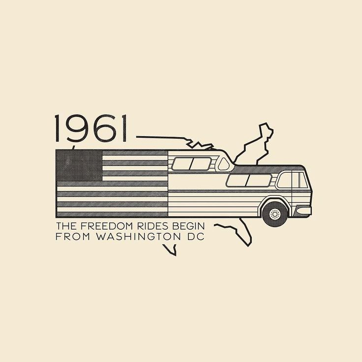 This Day In History - May 4 - 1961 - The Freedom Rides begin from Washington D.C.  ---  #thisdayinhistory #todayinhistory #tdih #history #onthisday #minimal #minimalism #simple #minimalist #texture #adobe #illustration #vector #365project #facts #freedomrides #bus #greyhound #civilrights #america #usa #facts #1961 #travel #politics