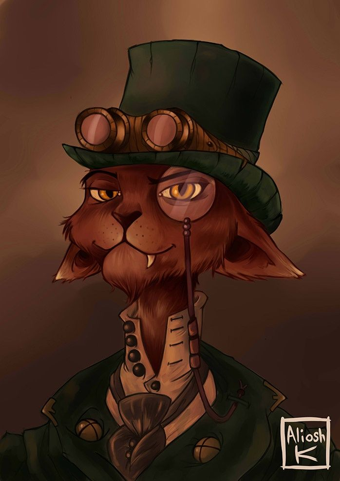 steampunk cat                                                       …