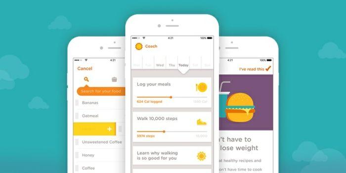 abnehm app kostenlos bei google play oder app store alles mögliche gleichzeitig registrieren und resultaten sehen