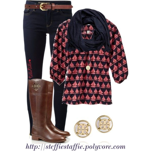 """Preppy Fall Style"" by steffiestaffie on Polyvore"