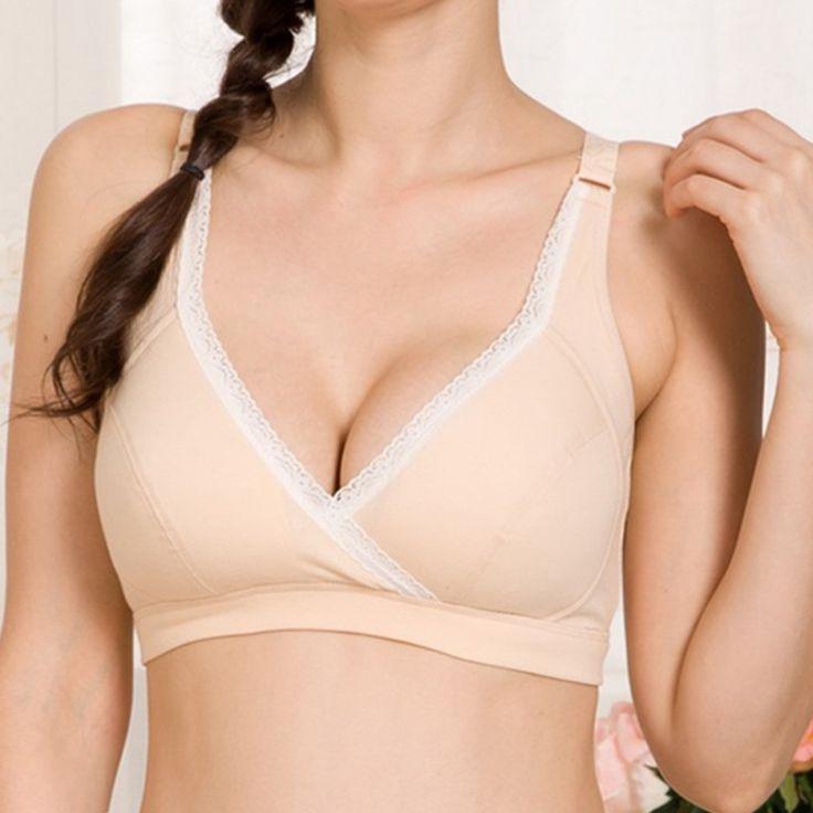 Nursing Bra Women Maternity Breastfeeding Pregnant Bra Cup 36-40B Underwear $5.97 => Save up to 60% and Free Shipping => Order Now! #fashion #woman #shop #diy www.mybreastfeedi...