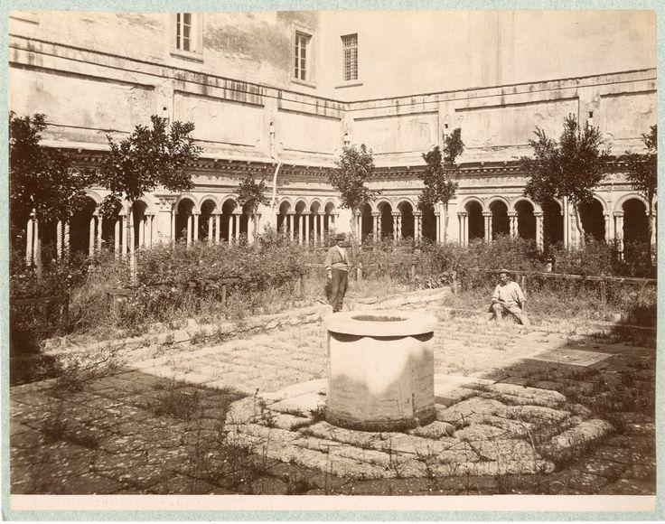 Italia, Roma. Chiostro di San Paolo fuori le Mura, ca. 1875     #Europe #Italia…