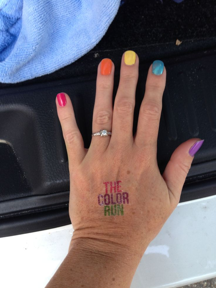 Color Run fun nails!! Doing this! #Color run MOBILE