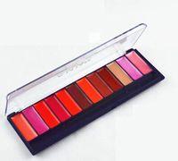 12 hidratante labial brillo de labios lápiz labial bandeja de placa de color nude brillo de labios maquillaje profesional rosa rojo envío gratuito