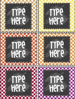 """Editable Labels-Polka Dot Labels contains 6 blank Editable Labels. Size of the labels are: 3.23 """" * 3.65"""" By purchasing this product, you will receive a PowerPoint file and you will need to have POWERPOINT to add your own text ,use any font or"""