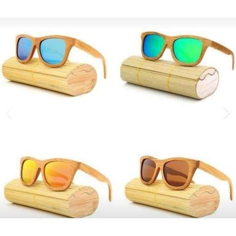 Lunettes Solaires Bois Clair-thewoodstock