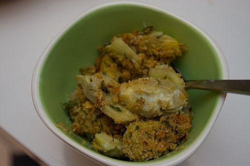 Tastes like a stuffed artichoke, made with TJ's frozen artichoke hearts -- to DIE for!!