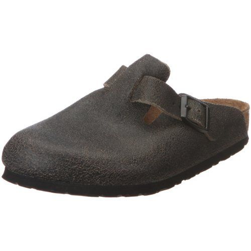 Birkenstock Clogs ''Boston'' from Leather in Crushed Black with a regular insole Birkenstock. $76.67. suede
