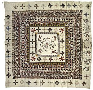 the Rajah Quilt made in 1841 on a convict ship to van Dieman's Land (Tasmania) shown once a year