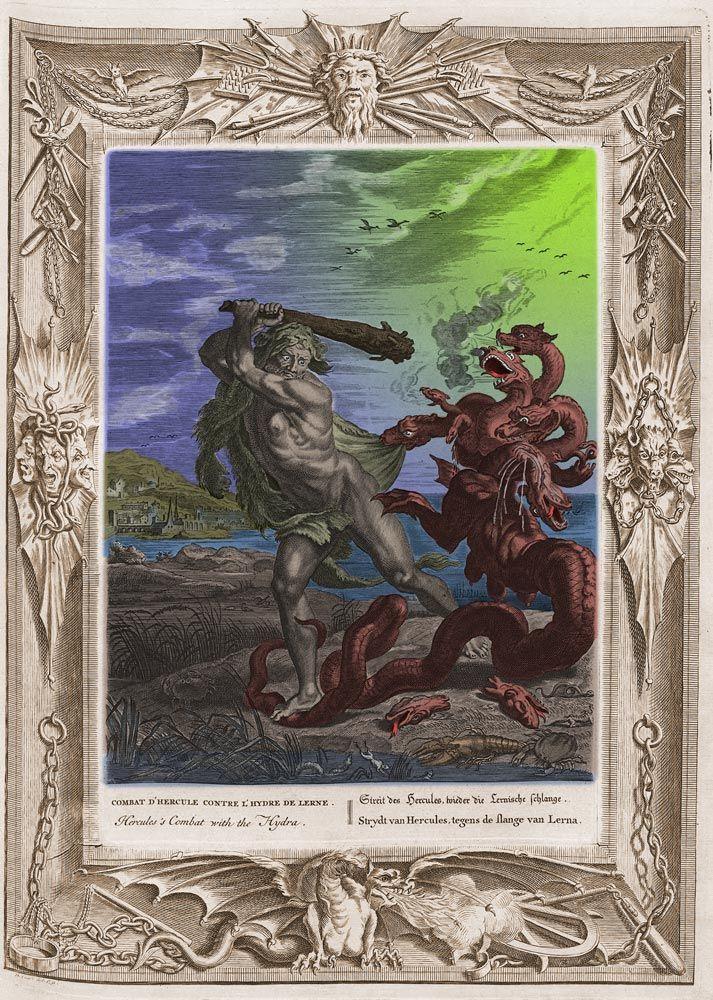 Hercule combattant l 39 hydre de lerne deuxi me des douze - Les pommes d or du jardin des hesperides ...
