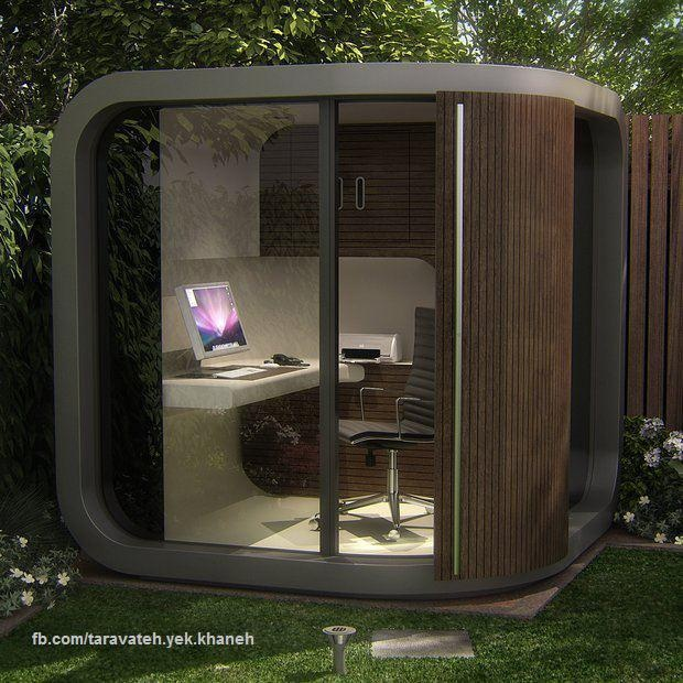 .: Gardens Offices, Outdoor Office, Offices Spaces, Offices Pods, Offices Ideas, Home Offices, Backyard Offices, Man Caves, Design Offices