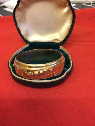 Antique Mizpah Bangle In Original Box in Jewellery & Watches, Vintage & Antique Jewellery, Vintage Fine Jewellery, Victorian (1837-1901) | eBay