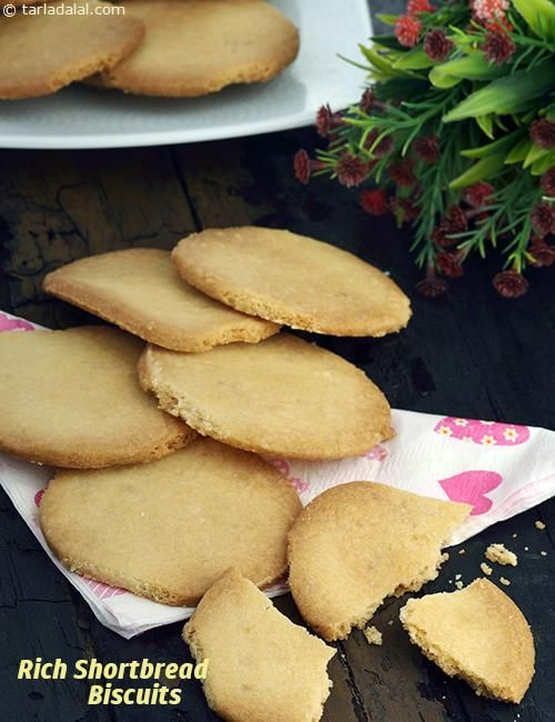 Rich Shortbread Biscuits, Eggless Butter Biscuits