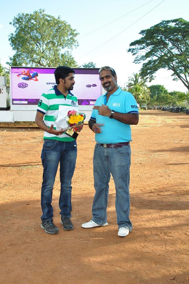 Rao With one of the Champions
